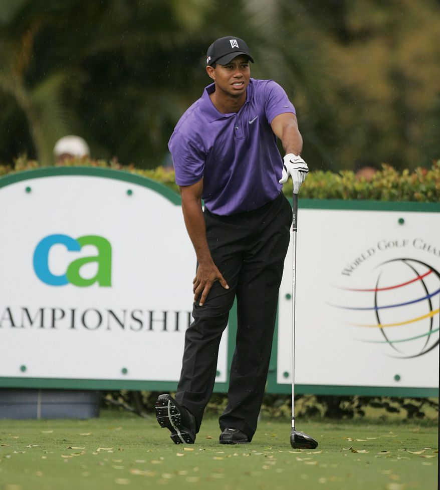 ASSOCIATED PRESS Health may be the biggest impediment as Tiger Woods, with 14 major championships, chases Jack Nicklaus' record of 18. Woods' most recent victory in a major was the 2008 U.S. Open at Torrey Pines.