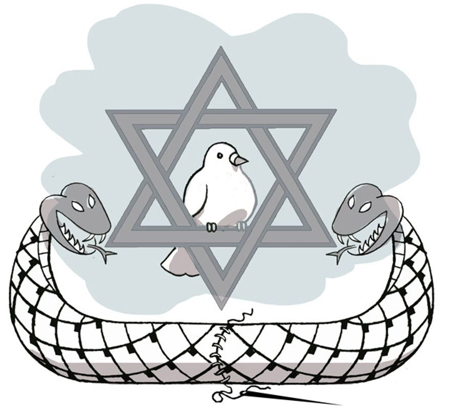 Illustration: Hamas by Alexander Hunter for The Washington Times