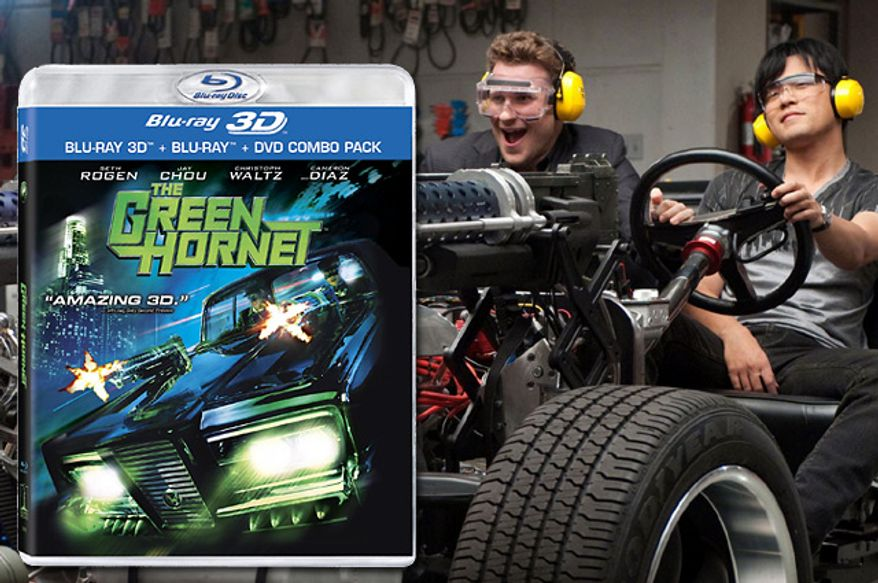 "Seth Rogen and Jay Chou star in ""The Green Hornet,"" now on Blu-ray."