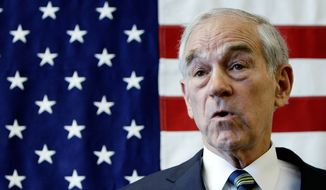 """U.S. Rep. Ron Paul, Texas Republican, thinks he has good credentials to become president because """"time has come around to the point where the people are agreeing with much of what I've been saying for 30 years."""" (Associated Press)"""