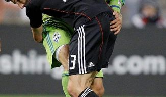 ASSOCIATED PRESS D.C. United midfielder Chris Pontius, seen here battling Seattle's Patrick Ianni in a May 4 contest, scored United's lone goal Saturday during a 1-1 tie against the Colorado Rapids. Pontius has notched three goals this season after scoring two during his injury-plagued 2010 campaign.