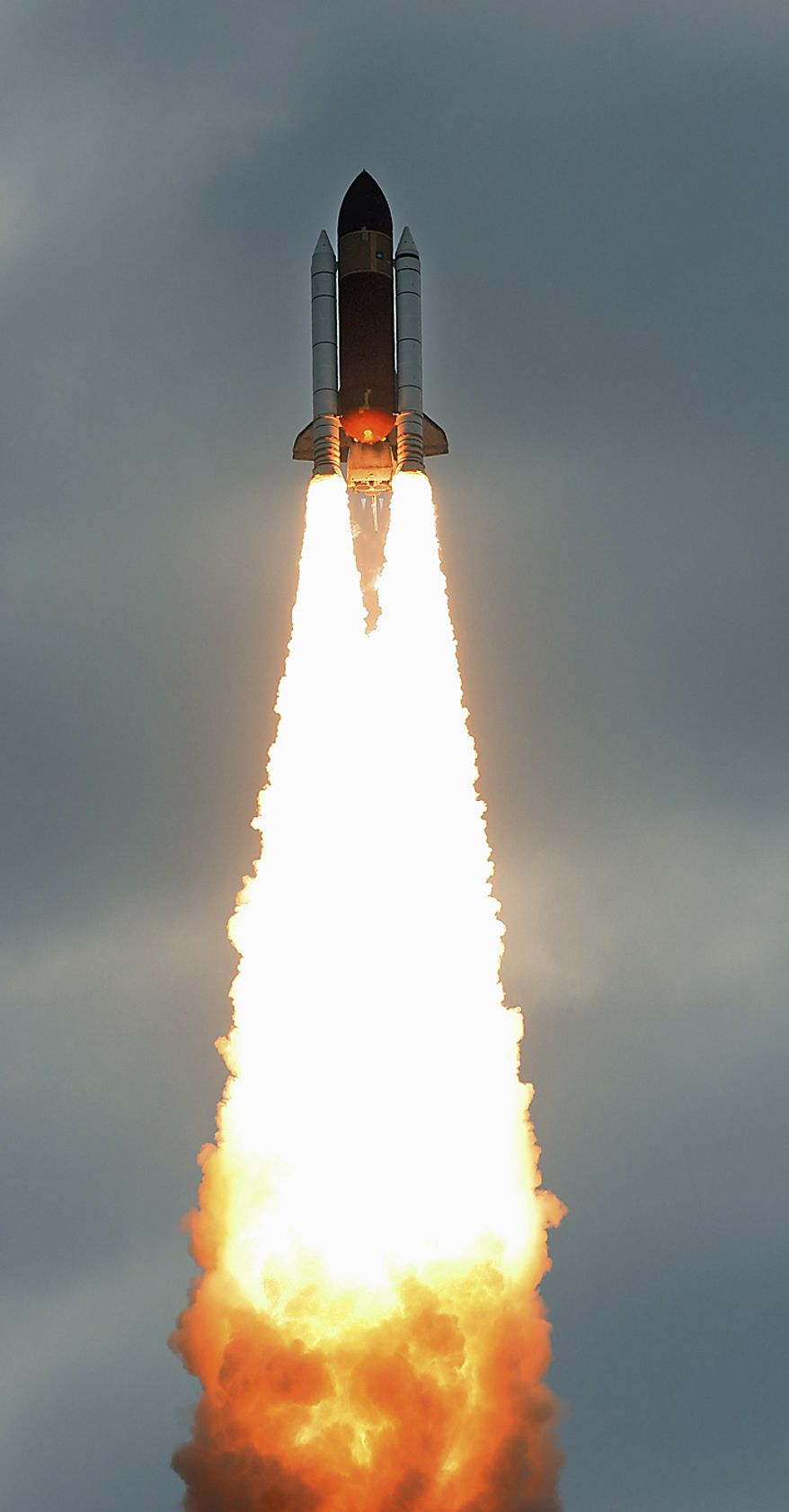 The space shuttle Endeavour lifts off from Kennedy Space Center in Cape Canaveral, Fla., Monday, May 16, 2011. The space shuttle Endeavour began a 14-day mission to the international space station. (AP Photo/Marta Lavandier)