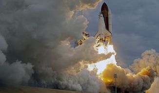 The space shuttle Endeavour lifts off from Kennedy Space Center at Cape Canaveral, Fla., Monday, May 16, 2011. (AP Photo/John Raoux )