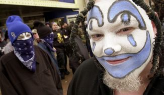 Fans of Insane Clown Posse have been labeled a dangerous, clown-makeup-wearing cult. (Associated Press)