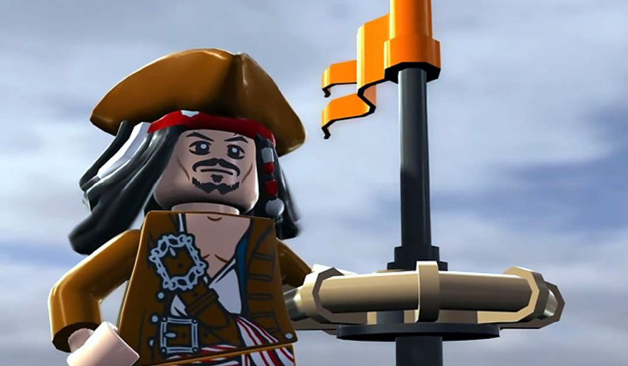 Capt. Jack Sparrow stars in Lego Pirates of the Caribbean.