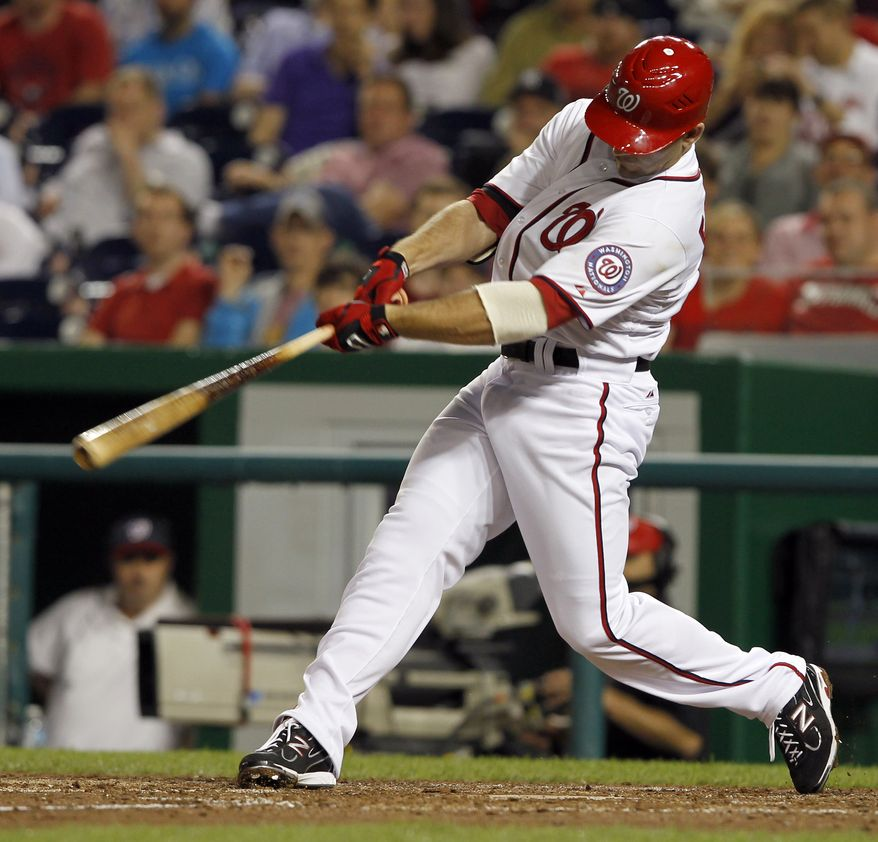 Nationals second baseman Danny Espinosa's two-run homer against Pittsburgh on Monday is his only hit in his past 22 at-bats. The rookie is batting just .196 for the season. (AP Photo/Alex Brandon)