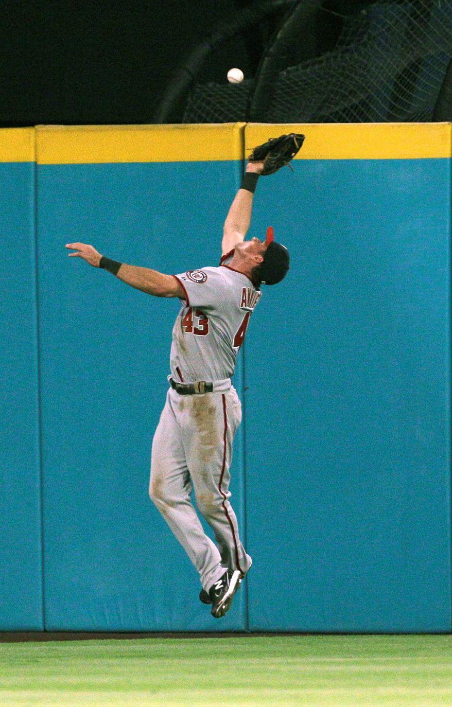 Washington Nationals' center fielder Rick Ankiel. (Associated Press)