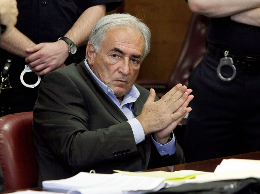 Former International Monetary Fund leader Dominique Strauss-Kahn listens to proceedings in his case in New York state Supreme Court on Thursday. A judge set bail at $1 million Thursday. (Associated Press)