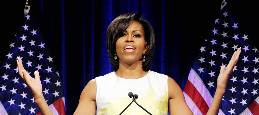 ASSOCIATED PRESS Michelle Obama steps into 2012 presidential campaigning on Thursday with a speech to the Democratic National Committee's Women's Leadership Forum.