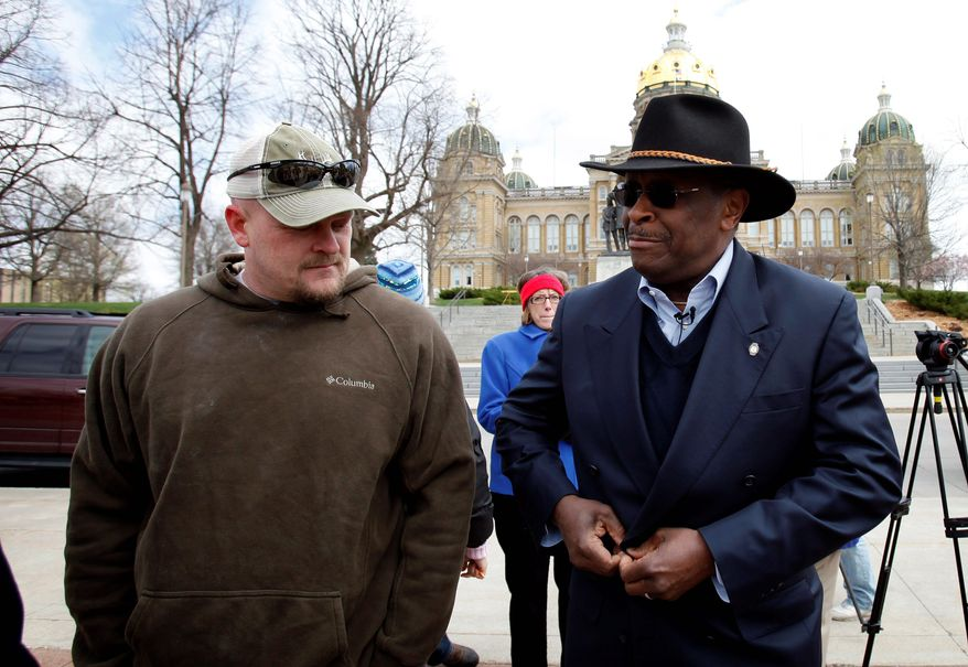 Former Godfather's Pizza CEO Herman Cain will announce his presidential aspirations at high noon Saturday. ASSOCIATED PRESS