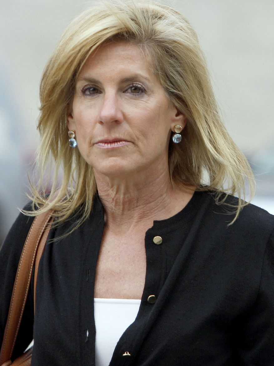 This Sept. 22, 2010, file photo shows Jamie McCourt arriving at court for her divorce trial, in Los Angeles. The Los Angeles Times is reporting that the estranged wife of Dodgers owner Frank McCourt will ask a L.A. Superior Court judge to order the immediate sale of the team. (AP Photo/Nick Ut, File)