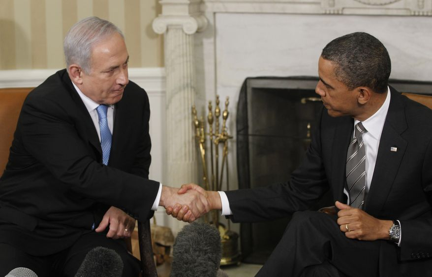 President Obama meets with Prime Minister Benjamin Netanyahu of Israel on May 20, 2011, in the Oval Office at the White House. (Associated Press)