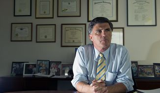 Former Maryland Gov. Robert L. Ehrlich Jr. says he hopes to become an influential national voice on Republican politics through books, radio and television gigs. (Barbara L. Salisbury/The Washington Times)