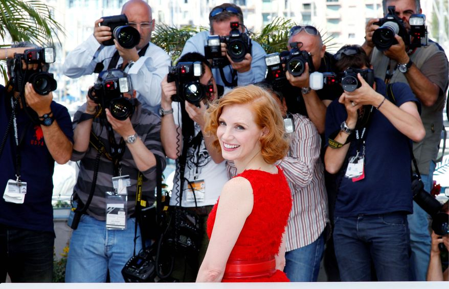 """Jessica Chastain promotes Terrence Malick's """"The Tree of Life"""" at the 64th international film festival in Cannes, southern France, earlier this month. """"I'm just nervous that I'm going to be the newcomer that everyone's sick of, and they don't even know my name."""" she said. (Associated Press)"""