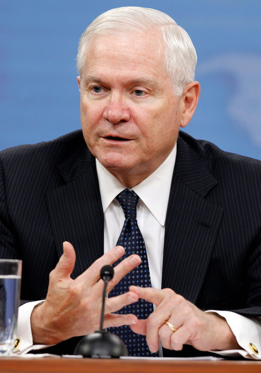 Outgoing Defense Secretary Robert M. Gates issues a warning against slashing spending. (Associated Press)