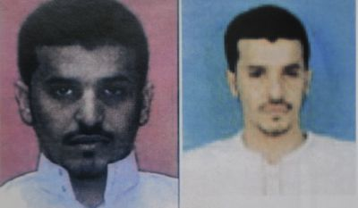 An undated two-image photo released Sunday, Oct. 31, 2010, by Yemen's Interior Ministry purportedly shows bomb-making suspect Ibrahim Hassan al-Asiri. (AP Photo/Yemen Interior Ministry)