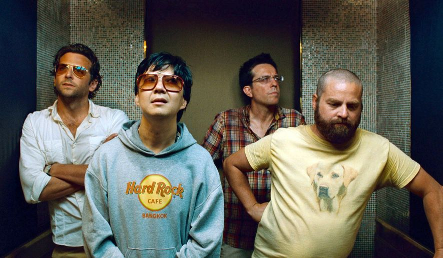 """The Hangover Part II"" features (from left) Bradley Cooper, Ken Jeong, Ed Helms and Zach Galifianakis. The movie suffers due to a perceived need to top the 2009 original by introducing heightened versions of that film's basic elements."