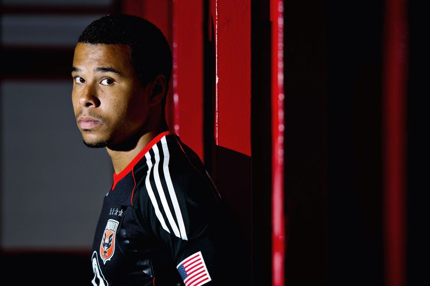 D.C. United forward Charlie Davies' life changed forever on the night of Oct. 13, 2009 ,when as a passenger he suffered severe injuries in a single-car crash on the George Washington Parkway. The accident took the life of another passenger. Below right, Davies' scars were visible as he was introduced as a member of United on Feb. 16. Previously, Davies had a forgettable stint in France. (Drew Angerer/The Washington Times)