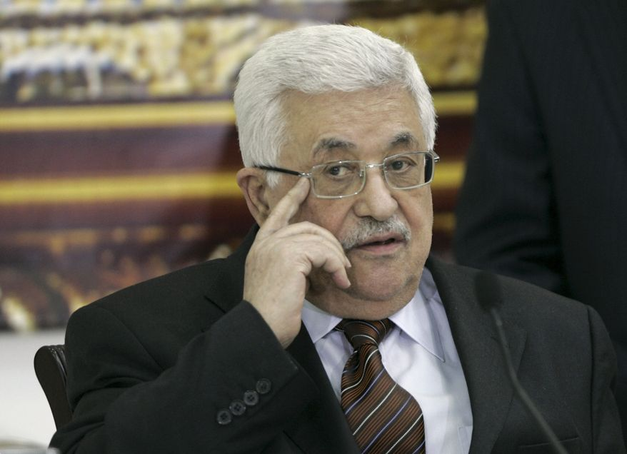 Palestinian President Mahmoud Abbas attends a meeting of the Palestinian leadership in the West Bank city of Ramallah on May 25, 2011. (Associated Press)