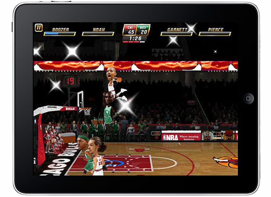 Built for the iPad, sky-high dunks are standard in EA Sports NBA Jam.