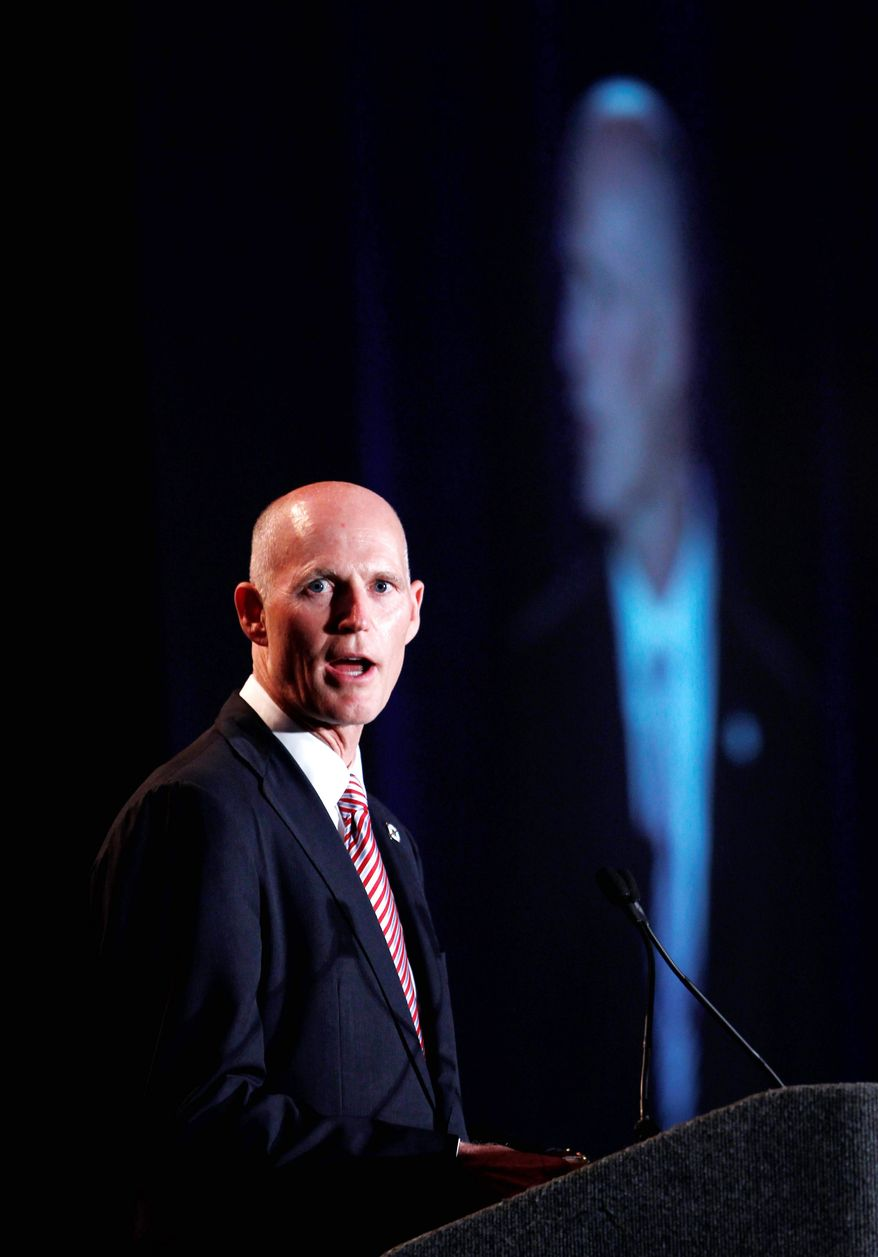 After less than five months in office, Florida Gov. Rick Scott has fallen from favor among Floridians overall, a new poll found. A majority of Republicans still support him. (Associated Press)