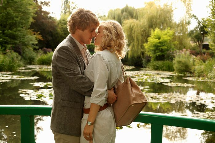 """SONY PICTURES CLASSICS VIA ASSOCIATED PRESS Owen Wilson and Rachel McAdams play an engaged couple visiting Paris in Woody Allen's """"Midnight in Paris."""" During the trip, Mr. Wilson's character slips into a fantasy that re-creates 1920s Paris."""