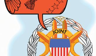 Illustration: Joint Chiefs by Alexander Hunter for The Washington Times
