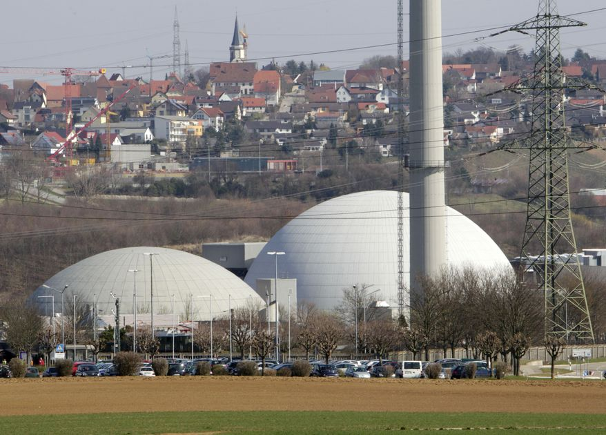 ** FILE ** The nuclear plant in Neckarwestheim, Germany, will be shut down by 2022 in a plan announced by Chancellor Angela Merkel's coalition government on Monday, May 30, 2011. (AP Photo/Michael Probst, File)