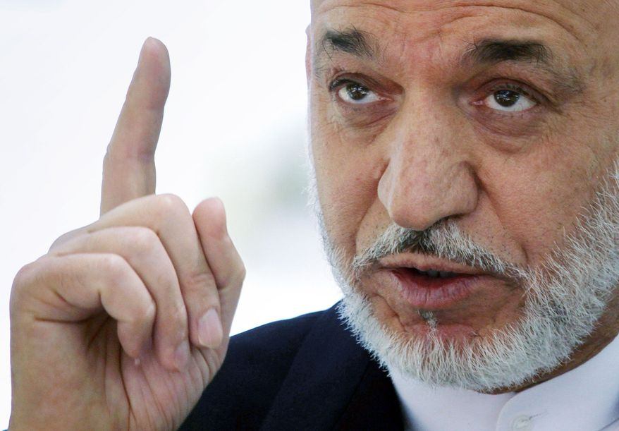 ASSOCIATED PRESS Angered by civilian casualties in a NATO airstrike, Afghan President Hamid Karzai's ban on the attacks could bring his government into direct conflict with its international allies.