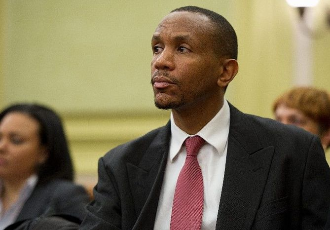 Former mayoral candidate Sulaimon Brown, who has accused the mayor's office of offering him a job in exchange for help on the campaign. (Barbara L. Salisbury/The Washington Times)