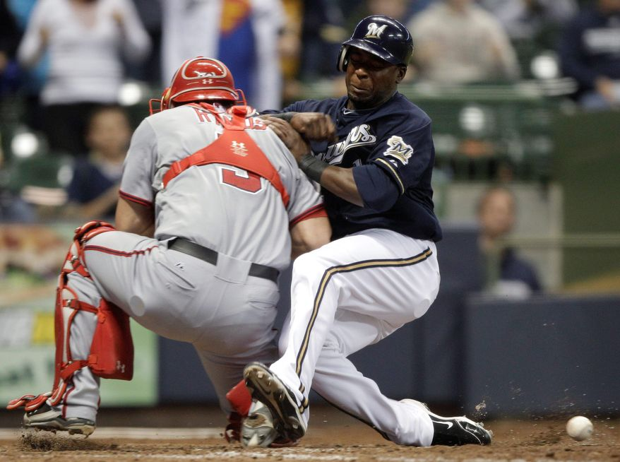 """ASSOCIATED PRESS Wilson Ramos has given the Nationals steady play at the plate. """"Blocking balls, calling a game, throwing to second, he's just a really good player,"""" manager Jim Riggleman said."""