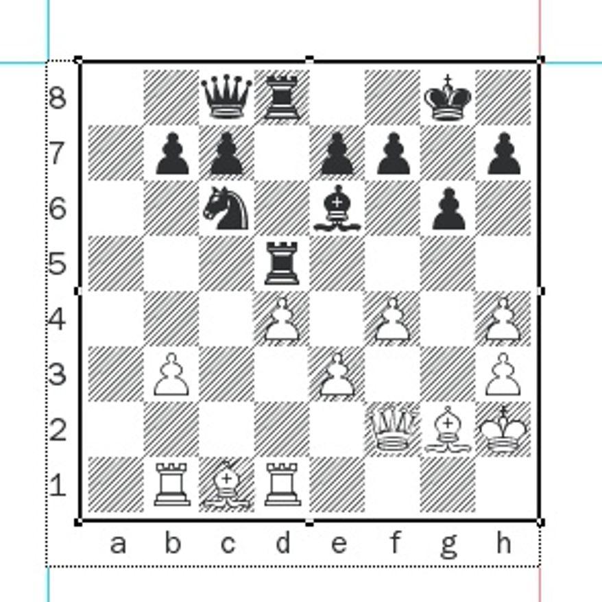Gelfand-Grischuk after 22...Rhxd5.