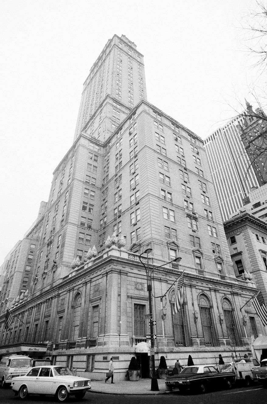 ** FILE ** A Nov. 27, 1968, photo shows the exterior of the Pierre Hotel in New York. Mahmoud Abdel Salam Omar, former chairman of Egypt's Bank of Alexandria and currently an executive with El-Mex Salines Co., was arrested on Tuesday, May 31, 2011, on charges of sexually abusing a maid at the hotel. (AP Photo)
