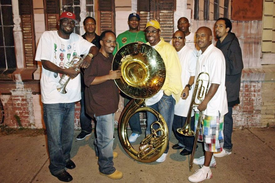 """The Rebirth Brass Band (left) will give jazz fans  """"A Night in Treme: The Musical Majesty of New Orleans"""" at the Kennedy Center on June 13. Freddie Young and his harmonica will top the bill for the Jazz on the National Mall show on the afternoon of June 12."""