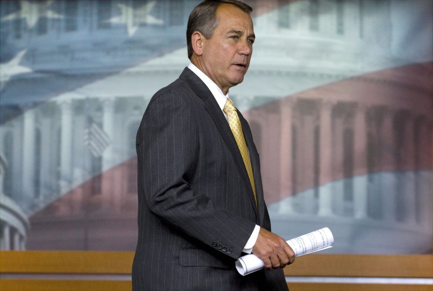 """The White House needs to get serious right now about dealing with our deficit and debt,"" said House Speaker John A. Boehner, Ohio Republican. (Associated Press)"