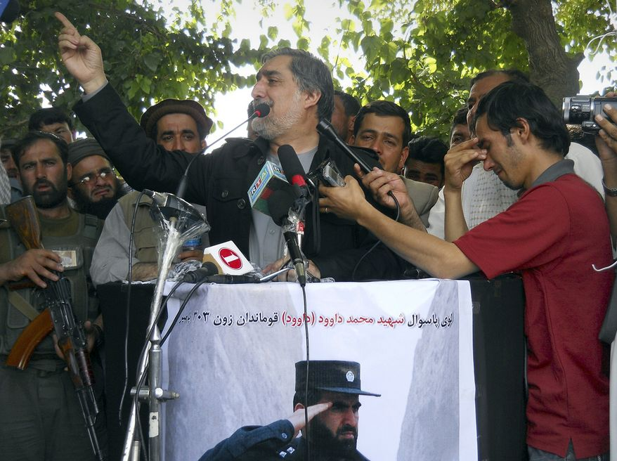 ** FILE ** Abdullah Abdullah, a former foreign minister and Afghanistan presidential candidate, has said the Taliban now 'deny themselves the reason for their existence.' (Associated Press)