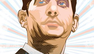 Illustration: Paul Ryan by Linas Garsys for The Washington Times