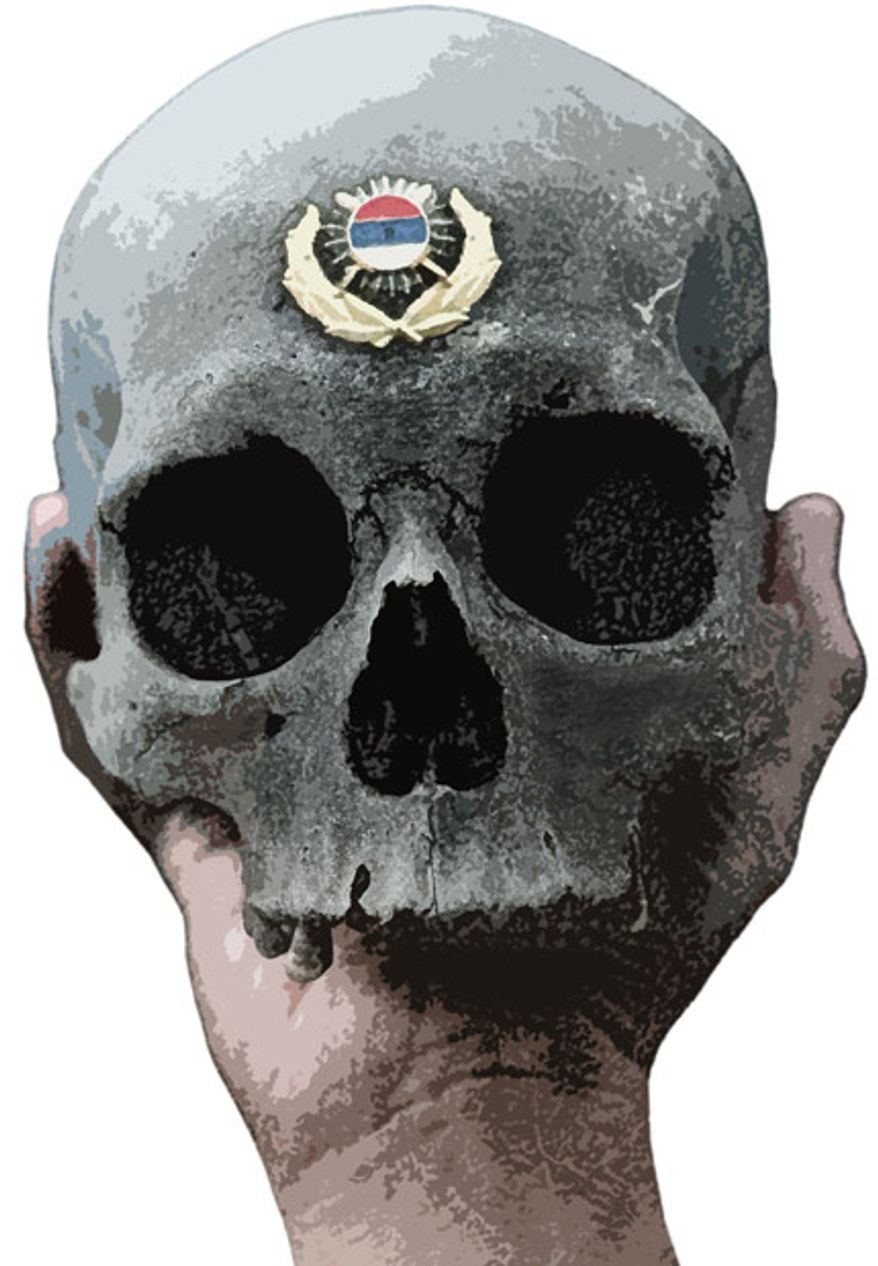 Illustration: Mladic graves by Greg Groesch for The Washington Times