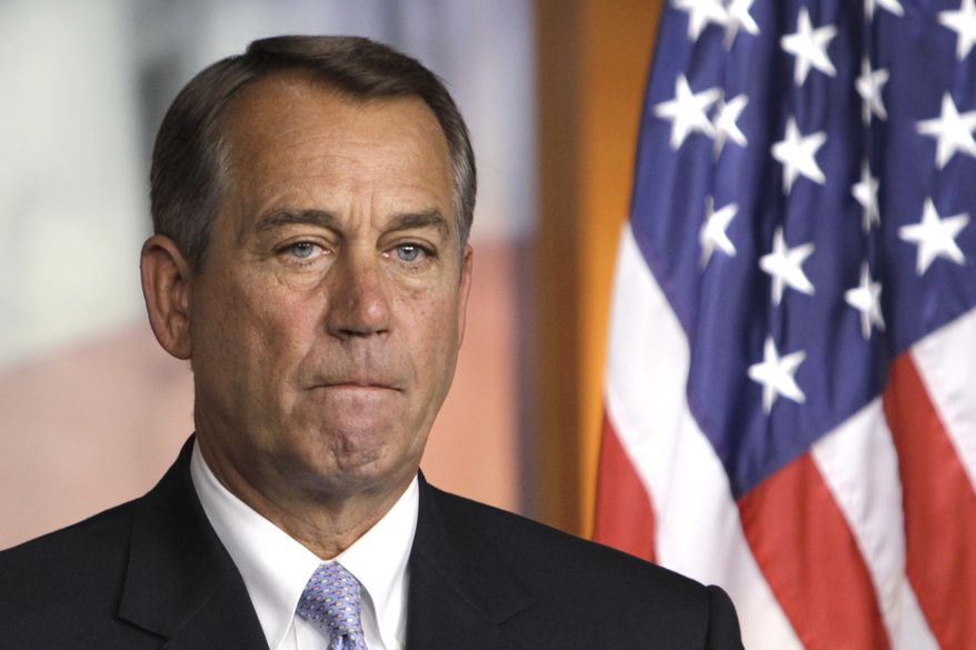 House Speaker John Boehner of Ohio listens on Capitol Hill on June 3, 2011, during a Republican news conference to respond to the May unemployment report. (Associated Press)