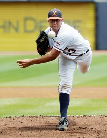 ASSOCIATED PRESS Danny Hultzen has 148 strikeouts and just 17 walks for Virginia this season. He's projected to go in the top five picks of the Major League Baseball draft, which starts Monday.