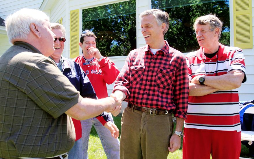 ASSOCIATED PRESS Former Utah Gov. Jon Huntsman Jr. tests the waters for a 2012 GOP presidential bid Saturday with some retail politicking in Gorham, N.H.