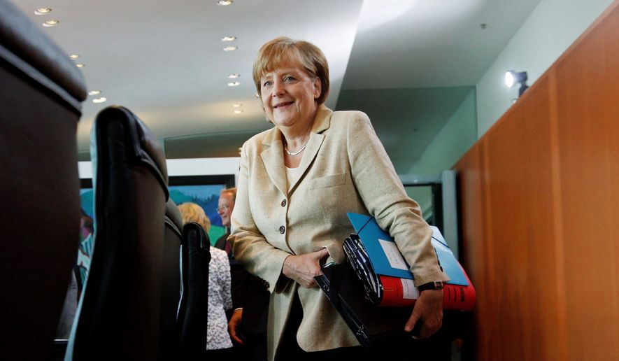German Chancellor Angela Merkel is to visit the U.S. starting on Tuesday and be presented the Presidential Medal of Freedom. (Associated Press)