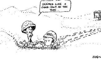 Illustration by Moir, Morning Herald, Sydney, Australia