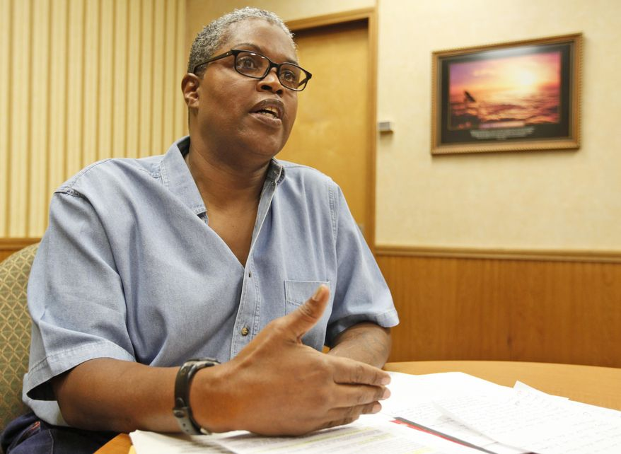 In this March 9, 2011, photo Ophelia De'lonta speaks during an interview at the Buckingham Correctional Center in Dillwyn, Va. De'lonta has filed a lawsuit against Virginia Prison officials seeking a sex change operation. (AP Photo/Steve Helber)