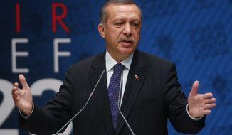Turkish Prime Minister Recep Tayyip Erdogan (AP Photo)
