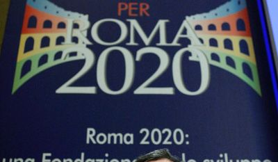 Rome Mayor Gianni Alemanno has sent some of his city's famed antiquities on a grand tour of the U.S. to promote the Italian capital's bid for the 2020 Olympic Games. (Associated Press)