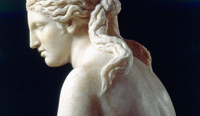 Here is a close-up view of the 6-foot-tall Capitoline Venus, installed in the Rotunda of the West Building of the National Gallery of Art in Washington. (Photograph by Araldo de Luca)
