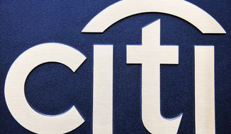 Citigroup logo (AP Photo/Mark Lennihan)