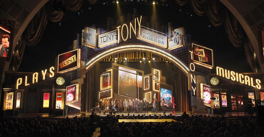 ** FILE ** In this June 7, 2009, file photo, actors perform a segment from the show Guys and Dolls at the 63rd annual Tony Awards in New York. The Tony Awards are scheduled to air on Sunday, June 12, 2011. (AP Photo/Seth Wenig, file)