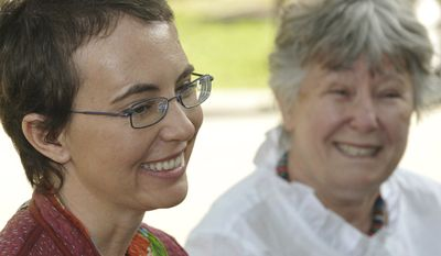 The most recent photos taken of Rep. Gabrielle Giffords (left) since she was shot were posted to her public Facebook page by her aides on June 12, 2011. The woman in the background is her mother Gloria Giffords. The photos were taken May 17, 2011, at TIRR Memorial Hermann Hospital, the day before she had her cranioplasty. (Associated Press/Giffords Campaign)